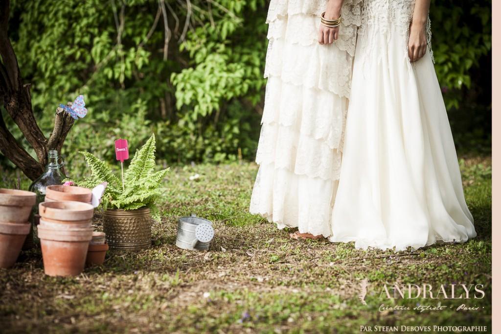 Robe de mariée hippie chic Joan sur-mesure à Bordeaux - mariage pour tous 2