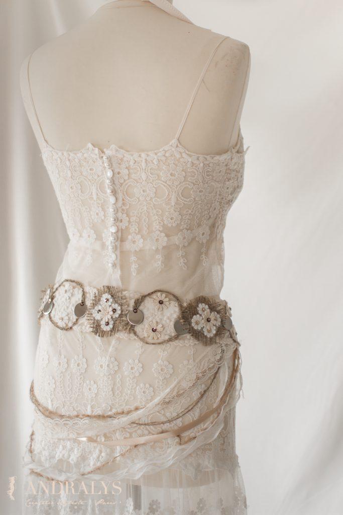 Dos robe de mariée sur mesure boutons