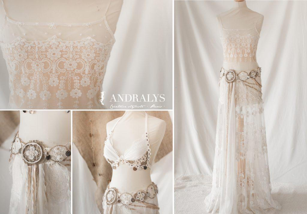 Robe de mariée bohème tribale Bordeaux