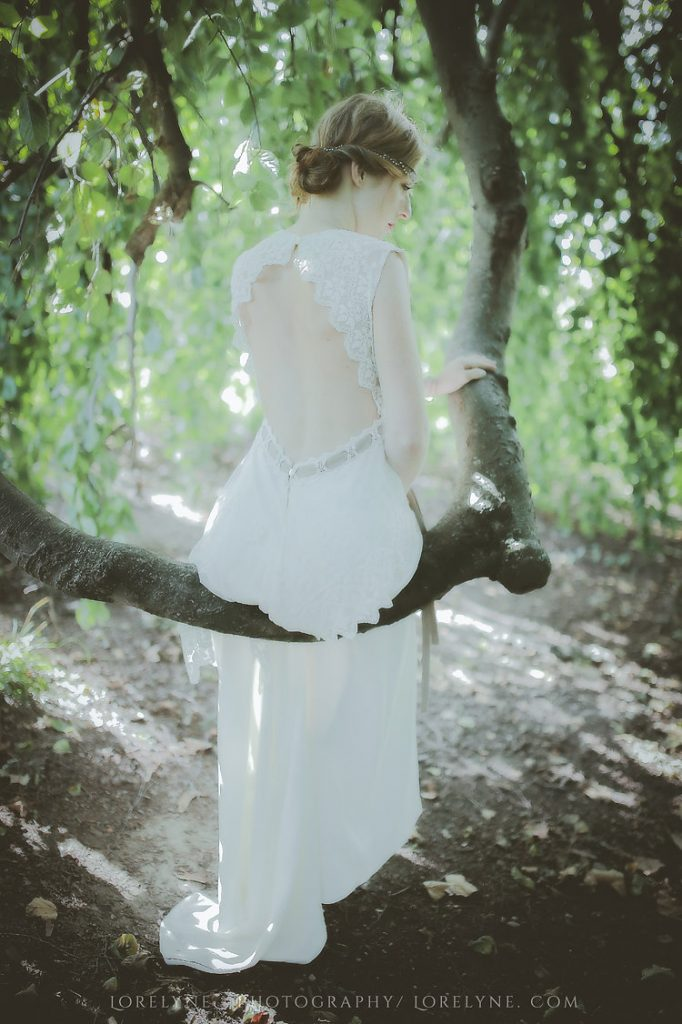 robe de mariée vegan champêtre Ribye à Bordeaux